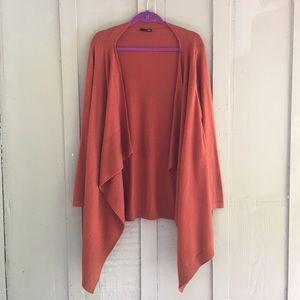 Soft Rust Orange Cardigan Sweater